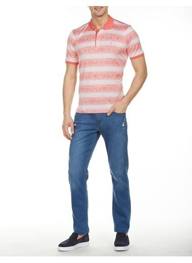 Bisse TS18Y18115 Regular Fit Desenli Polo Yaka T-Shirt Kırmızı